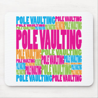 Colorful Pole Vaulting Mouse Pad