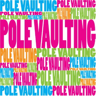 Colorful Pole Vaulting Cut Out