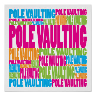 Colorful Pole Vaulting Posters