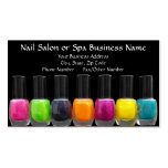 Colorful Polish Bottles, Nail Salon Appointment Business Card