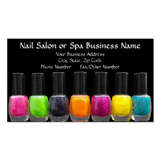 Colorful Polish Bottles, Nail Salon Appointment Double-Sided Standard Business Cards (Pack Of 100)