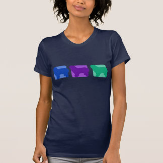 Colorful Polish Lowland Sheepdog Silhouettes T-Shirt