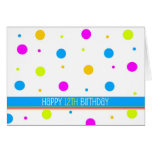 Colorful Polka Dot 12th Birthday Card