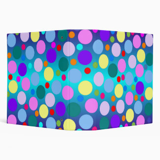 Colorful Polka Dot Binder