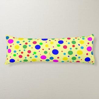 Colorful Polka Dot Bubble Balloons Body Pillow