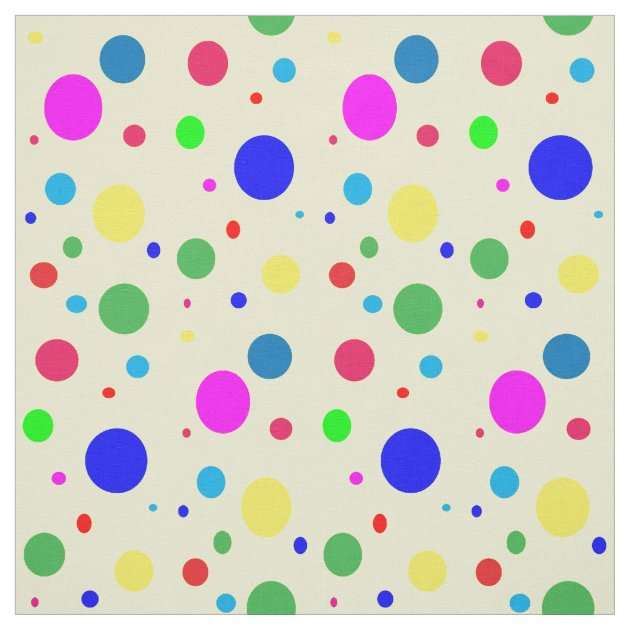 Colorful Polka Dot Bubble Balloons Fabric Zazzle
