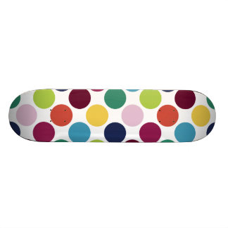 Colorful Polka Dot Bubble Comp Skateboard