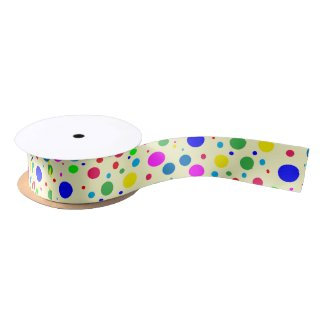 Colorful Polka Dot Bubbles Ribbon
