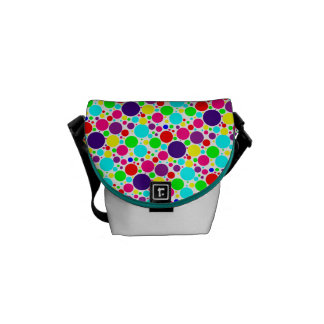 Colorful Polka Dot Mini-Messenger Bag
