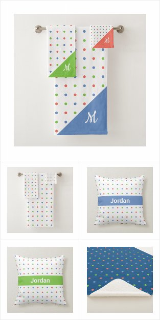 Colorful Polka Dot Pattern Home Decor