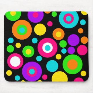Colorful Polka Dot Pattern Mouse Pad