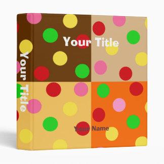 Colorful Polka Dot Pattern Patchwork Binder