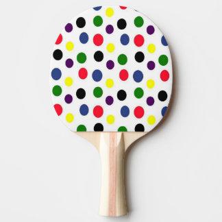 Colorful Polka Dot Ping-Pong Paddle
