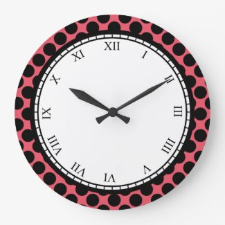 Colorful Polka Dot Roman Digits Black on any Color