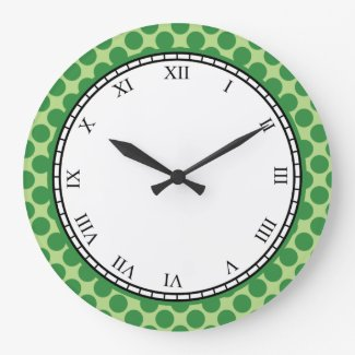 Colorful Polka Dot Roman Digits Green on any Color