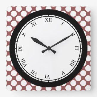 Colorful Polka Dot Roman Digits White on any Color