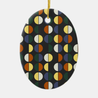 Colorful Polka Dot Seamless Pattern Ceramic Ornament