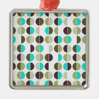 Colorful Polka Dot Seamless Pattern Metal Ornament