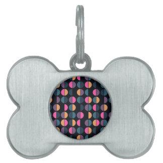 Colorful Polka Dot Seamless Pattern Pet Name Tag