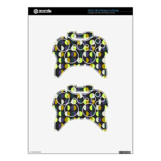 Colorful Polka Dot Seamless Pattern Xbox 360 Controller Decal