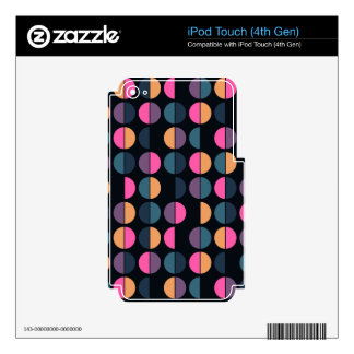 Colorful Polka Dot Seamless Pattern Decals For iPod Touch 4G