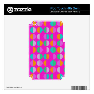 Colorful Polka Dot Seamless Pattern Skins For iPod Touch 4G