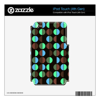 Colorful Polka Dot Seamless Pattern Decal For iPod Touch 4G