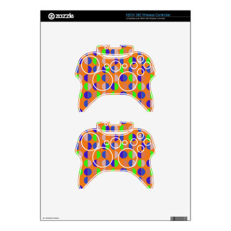 Colorful Polka Dot Seamless Pattern Xbox 360 Controller Skin