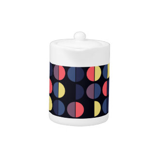 Colorful Polka Dot Seamless Pattern Teapot