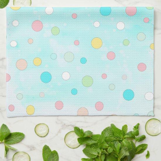 Colorful Polka Dot Whimsical Modern Winter Holiday Hand Towel