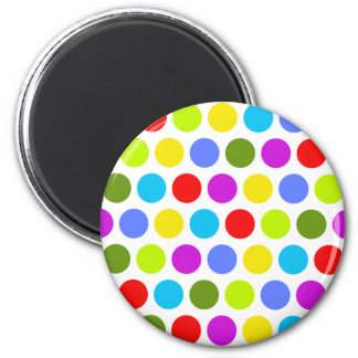 Colorful Polka Dots 2 Inch Round Magnet