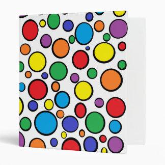 Colorful Polka Dots 3 Ring Binder