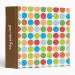 Colorful Polka Dots binder