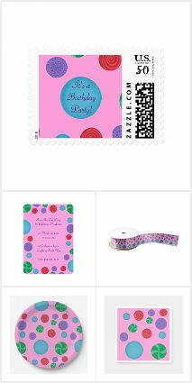 Colorful Polka Dots Birthday Collection