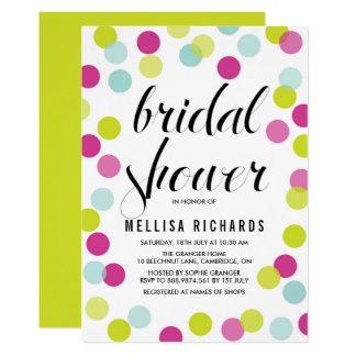 Colorful Polka Dots Bridal Shower Invitation