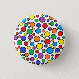 Colorful Polka Dots Button
