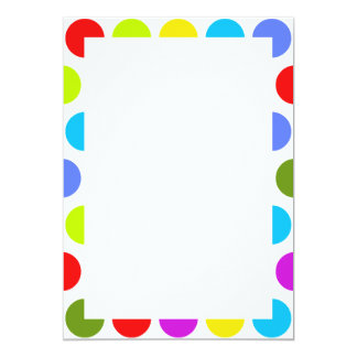 Colorful Polka Dots Card