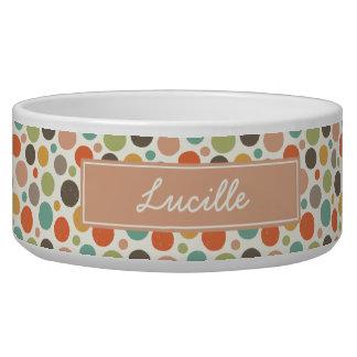 Colorful Polka Dots Custom Bowl