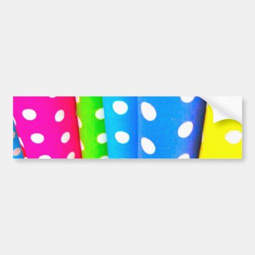 colorful_polka_dots etiqueta de parachoque