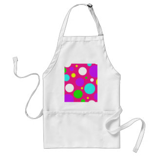 Colorful Polka Dots for Girls Pink Purple Teal Apron