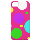 Colorful Polka Dots for Girls Pink Purple Teal iPhone 5 Cover