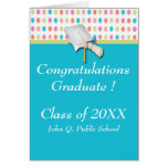 Colorful Polka Dots Graduation Greeting Cards