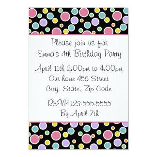 Colorful Polka Dots Invitation