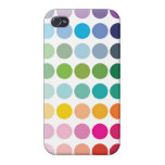Colorful Polka Dots iPhone 4 Case