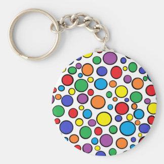 Colorful Polka Dots Keychain