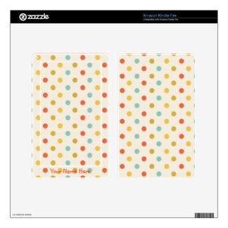 Colorful Polka Dots Kindle Fire Skin