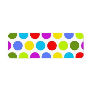 Colorful Polka Dots Return Address Label