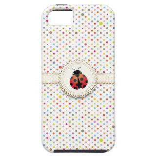 Colorful Polka Dots Ladybug iPhone 5 Case