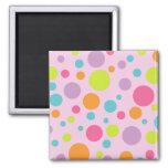 Colorful Polka Dots Magnet