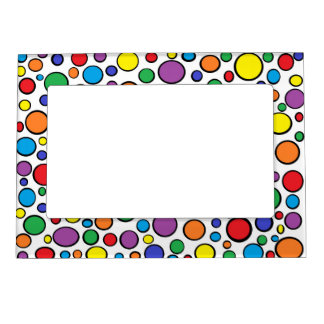 Colorful Polka Dots Magnetic Frame